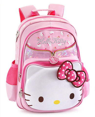 a40c14133a76 Cute Hello Kitty Bag Primary Elementary School Backpacks Schoolbag  Rucksacks Children School Bags for Girls Kids