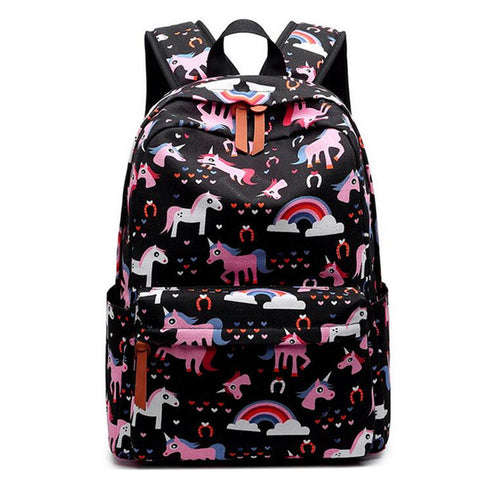 Cute Horse Cartoon Teenager Backpack for Girl Women Japanese Anime School Backpack for Campus Students Travel Bookbag Mochila Dearest Yomi Bag Store 1