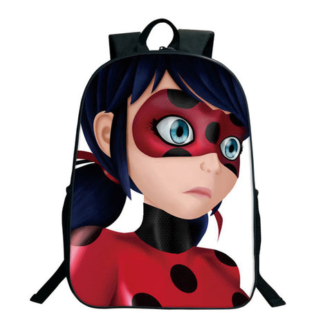 Cute Miraculous Ladybug School Backpack For Teenage Girls Boy Anime Printing Cat Noir Adrien Marinette Bags Custom Drop Shipping DSL Store 1