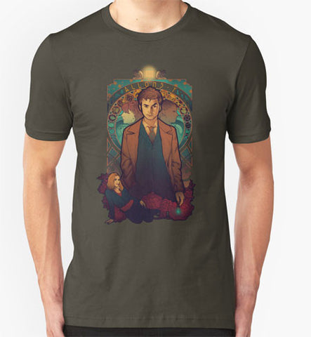 Dr.Who Allons-y Unisex Adult T-Shirt Tee Shirt - Animetee