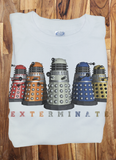 Soft Premium Quality Custom Dr.Who Doctor Who Dalek Exterminate Rainbow Color T-Shirt Tee Tshirt - Animetee - 1