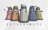 Soft Premium Quality Custom Dr.Who Doctor Who Dalek Exterminate Rainbow Color T-Shirt Tee Tshirt - Animetee - 2