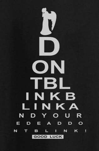 Trendy Pop Culture Visual Test Dr Doctor Who Don't Blink Angel graphic tee t-shirt tshirt Toddler Youth Adult Unisex Ladies - Animetee - 1
