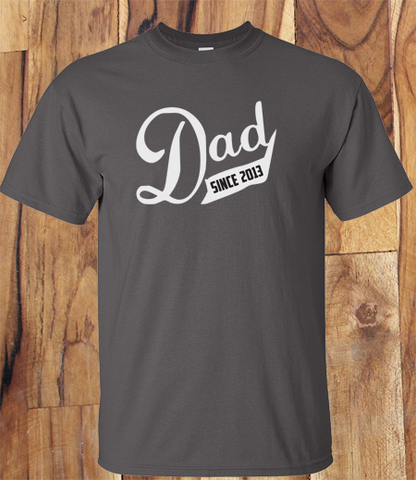 Trendy Pop Culture Husband Father Dad Since 2011 2012 2013 2014 2015 tee t-shirt tshirt Toddler Youth Adult Unisex Ladies Female Charcoal - Animetee - 1