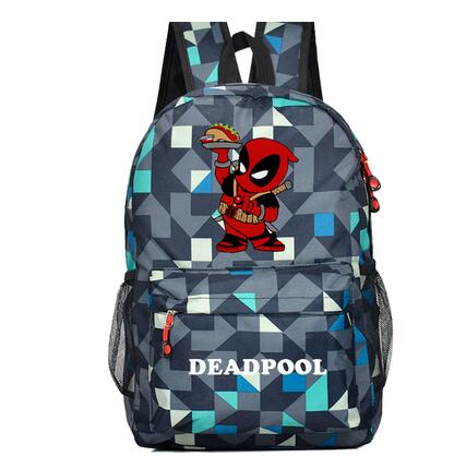 Deadpool backpack canvas plaid double zipper large capacity School teenagers student backpack Shop1168061 Store 1