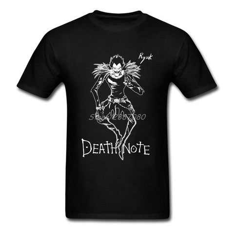 Death Note Anime T Shirt Big Size Custom Short Sleeve Clothes For Men New Kpop Cotton Mens T Shirts JYKJ Shirts Store 1
