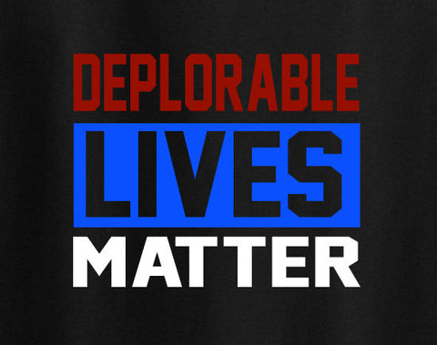 Donald Trump 2016 Deplorable Lives Matter DLM and proud tee t-shirt trendy - Animetee - 1