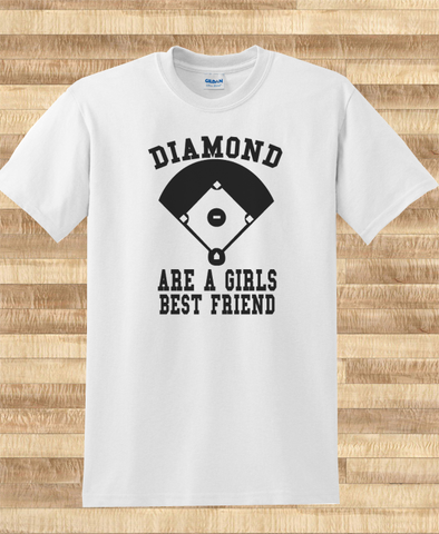 Pop Culture Trendy Diamonds are a girls best friend Tshirt Tee T-Shirt Ladies Youth Adult Unisex - Animetee - 1