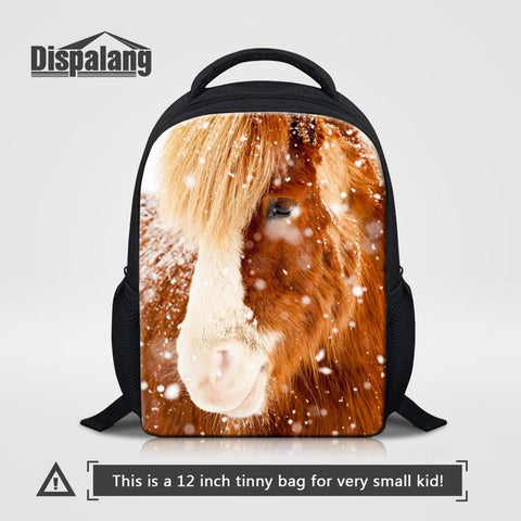 e7f057ab80f3 ... Dispalang Crazy Horse Nursery School Bag Children Satchel Kindergarten  Baby Girls Bag Children s Backpack Toddler Shoulder ...