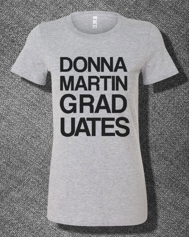 Trendy Pop Culture Donna Martin Graduates Beverly Hills 90210 Brandon Walsh Tee T-Shirt Ladies Youth Adult - Animetee - 2