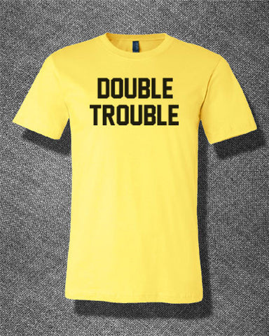 Trendy Pop Culture Double Trouble Dragon Twins rock hipster punk Tee T-Shirt Ladies Youth Adult - Animetee - 1