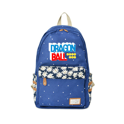 Dragon Ball Backpack Kindergarten Bags Flower wave point For Teenagers Japanese Anime Backpacks Travel Bags For 2018 New Fashion Global bags Store 1