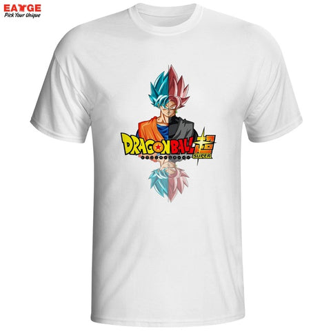 Dragon Ball Super Saiyan Rose T Shirt Japanese Anime Goku Black T-shirt Cool Fashion Cartoon Super Printed Tshirt Brand Men Tee EATGE Store 1