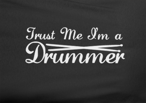 Pop Culture Trendy Trust Me I'm a Drummer Rock band Punk Ringo Travis Barker Tshirt Tee T-Shirt Ladies Youth Adult Unisex - Animetee - 2