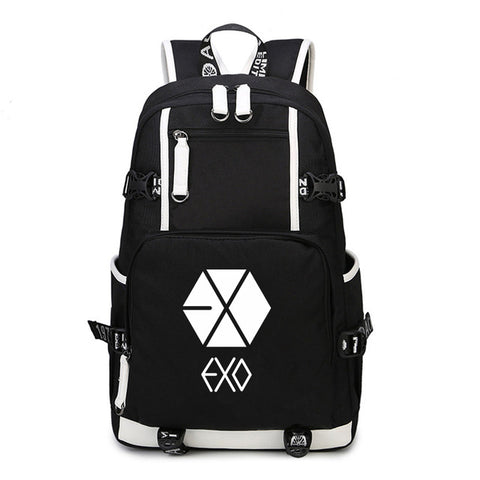 EXO Multifunction Backpack USB Charging Man Laptop Bag Kpop Print For Kids Shoulder Bag Stylish Boys&Girls Cool Backpack Global bags Store 1