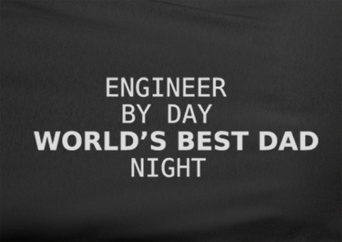 Trendy Pop Culture Engineer by day world's best dad by night Tshirt Tee T-Shirt Ladies Youth Adult Unisex - Animetee - 2