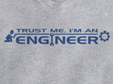 Trendy Pop Culture Hotter Topic Trust Me I'm an Engineer Mechanical Computer Software t-shirt tshirt Unisex Toddler Ladies All Sizes Gray - Animetee - 2