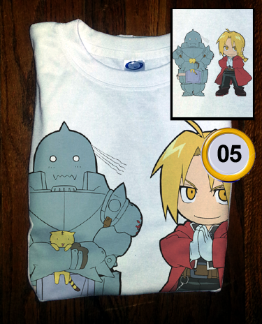 Soft Premium Quality Custom Full Metal Alchemist Edward and Al Chibi Cosplay T-Shirt Tee - Animetee - 1
