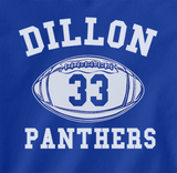 Trendy Pop Culture Hotter Topic Friday Night Lights Dillon Panthers 33 t-shirt tshirt Unisex Toddler Ladies All Sizes Blue - Animetee - 1