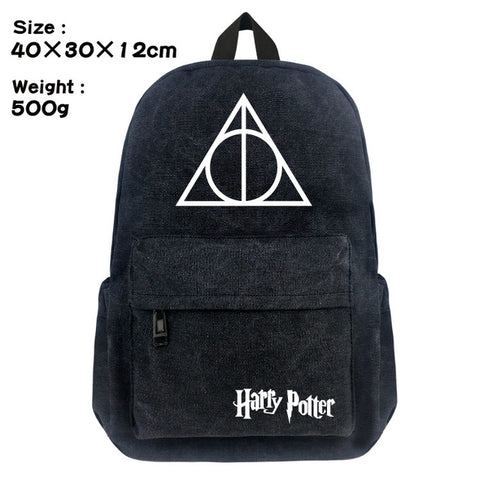 FVIP 16 inch Harry Potter Canvas Backpack Student School Backpack Bags for Teenagers Vintage Mochila Casual Rucksack Travel Bag FVIP Store 1