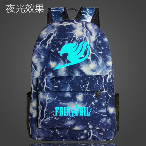 Fairy Tail Naruto One Piece Backpack Japan Anime Printing Bags for Teenager Cartoon Harajuku Bag Backpack Mochila Galaxia louis Trendy Bag Store 1