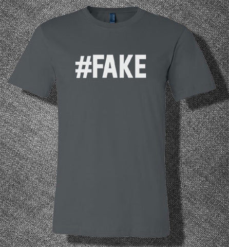 Trendy Pop Culture #Fake 100 real keep it real poser wanna be wannabe gangster T-Shirt Ladies Youth Adult - Animetee - 1