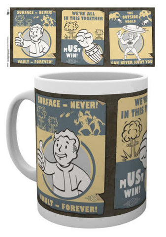 Officially Licensed FALLOUT 4 Vault Boy Mug - VAULT POSTERS - Official Licensed ceramic mug - Animetee