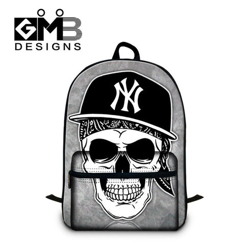 Cool Backpack school Fashionable Skull Bookbag for College stylish Back  pack,School Backpacks for Boys,Cool Girl Mochila with Laptop compartment