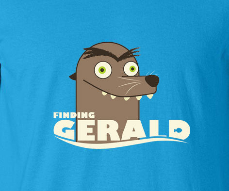Finding Nemo Dory Francis Gerald Get off our rock Sea lion creepy parody tee t-shirt - Animetee - 1