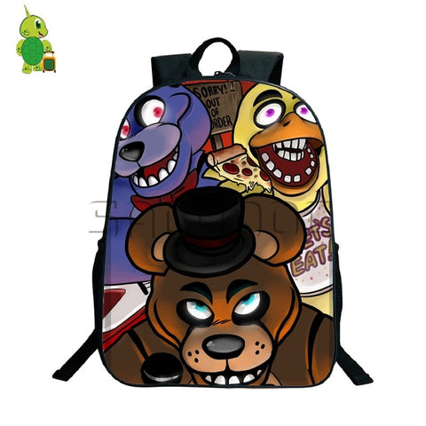 Five Nights At Freddy's Backpack Women Men Travel Backapck Anime FNAF Freddy Chica Bonnie Foxy Backpacks Kids School Bags Anime Bag World Store 1