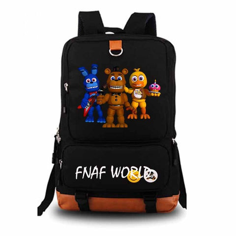 Five Nights At Freddy's Backpack fnaf world student school bag Notebook backpack Leisure Daily backpack HONHUIQIXIN Store 1