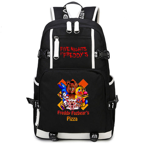 Five Nights at Freddy's Teenagers Cartoon Laptop Backpack Boys Canvas Bags School Bag Anime Bagpack Students Satchel Travel Bags  1