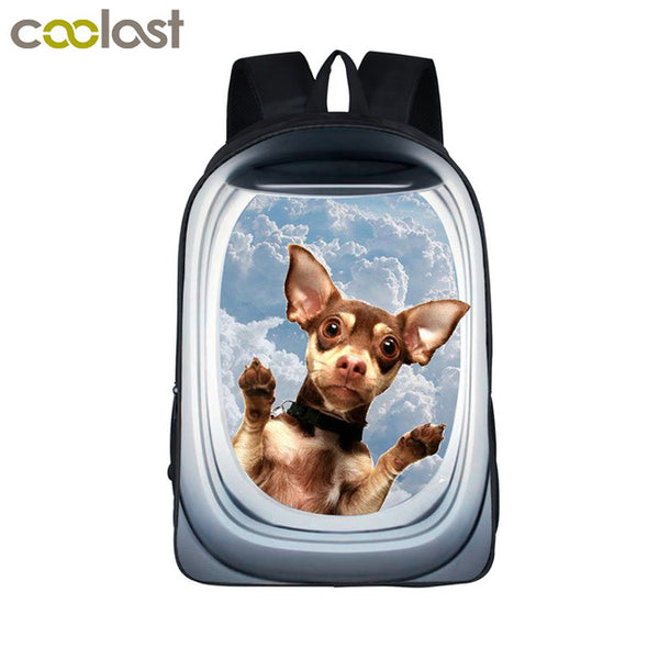 63f550bff2 Girls bookbag Funny 3D Animal Backpack Cute Puppy Pet School Backpack –  2018 AT 142 30 (Animetee.com Friends)