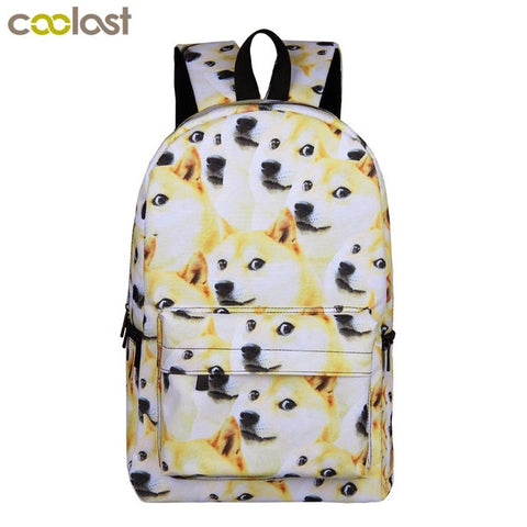Funny Shiba Inu Puppy Students Backpack Children School Bags Cute Dog Backpack for Teenager Girls Book Bag Women Laptop Backpack Shop3670055 Store 1