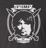 Trendy Pop Culture Hotter Topic Imp the Pimp Game of Thrones tee t-shirt tshirt Toddler Youth Adult Unisex Ladies Black - Animetee - 2