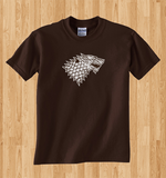 Trendy Pop Culture Hotter Topic Hodor Hodor Game of Thrones Winter is coming stark t-shirt tshirt Unisex Toddler Ladies All Sizes Brown - Animetee - 1