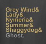 Trendy Pop Culture Hotter Topic Grey Wind Lady Nymeria Ghost Game of Thrones tee t-shirt tshirt Toddler Youth Adult Unisex Ladies Charcoal - Animetee - 1