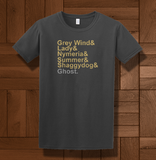 Trendy Pop Culture Hotter Topic Grey Wind Lady Nymeria Ghost Game of Thrones tee t-shirt tshirt Toddler Youth Adult Unisex Ladies Charcoal - Animetee - 2