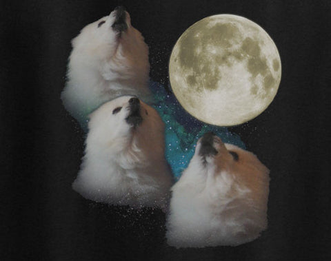 Gabe The dog 3 Three Moon Wolf moon eskimo internet sensation tee t-shirt - Animetee - 1