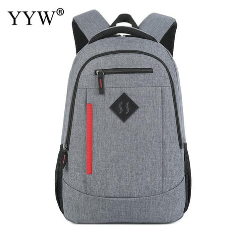 eb6920c25c Gray Oxford Men s Backpack with USB interface School Backpacks for Children  a case for Phone High