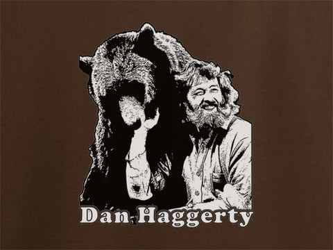 Dan haggerty grizzly adams bear did have a beard T-Shirt Tee - Animetee - 1