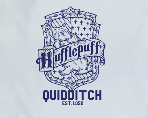 Trendy Pop Culture Harry Potter Hufflepuff Quidditch est 1050 College Style tee t-shirt tshirt Toddler Youth Adult Unisex Ladies Female - Animetee - 2