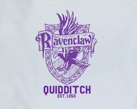 Trendy Pop Culture Harry Potter Ravenclaw Quidditch est 1050 College Style tee t-shirt tshirt Toddler Youth Adult Unisex Ladies Female White - Animetee - 2