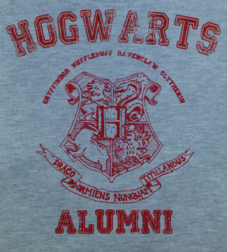 Red Print Trendy Pop Culture Harry Potter Hogwarts Alumni College University Style tee t-shirt tshirt Toddler Youth Adult Unisex Ladies Female Gray - Animetee - 2