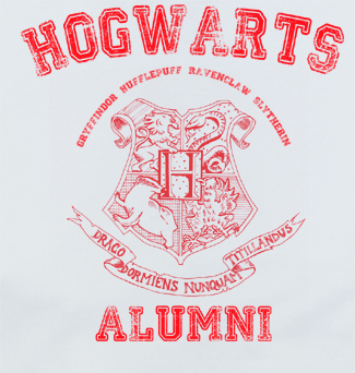 RedP Trendy Pop Culture Harry Potter Hogwarts Alumni University College Style tee t-shirt tshirt Toddler Youth Adult Unisex Ladies Female White - Animetee - 2