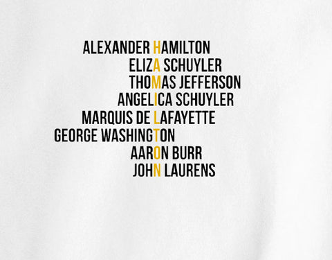 Alexander Hamilton Broadway Play NYC New York Text tee t-shirt - Animetee - 1