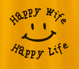 Trendy Pop Culture Depression cure Happy wife happy life family decal dysfunction Tee T-Shirt Ladies Youth Adult Unisex - Animetee - 2
