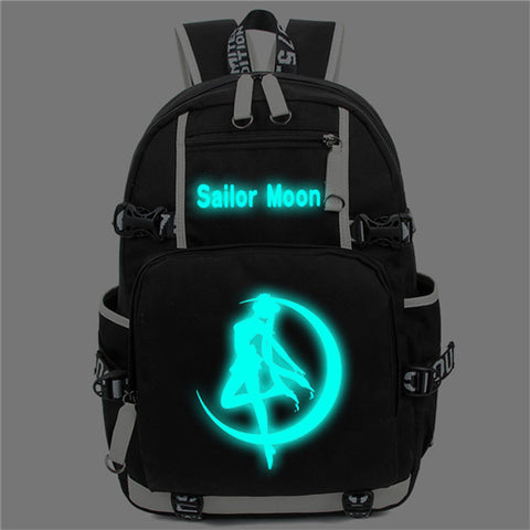 Harajuku Sailor Moon Luminous Cosplay Backpacks Women Japan Anime Laptop Schoolbag Kawaii cute Rucksack A71204 Shop3630034 Store 1