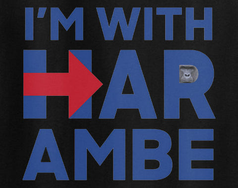 I'm with Harambe Hillary Hilary Clinton President parody 2016 elections - Animetee - 1