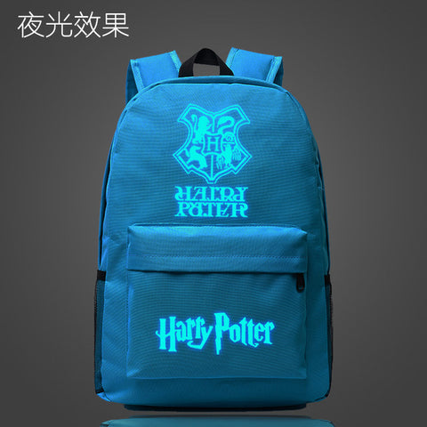 Harry Potter Hawarts School Bag noctilucous Luminous backpack student bag Notebook backpack Daily backpack Glow in the Dark Met You Store 1